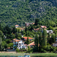 Village on Lake Ohrid.