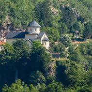 Moraca Monastery and Church overlooking the Tara River.