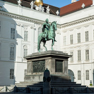 Statue of Josef II in Josefplatz.