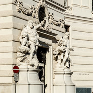 Entrance to part of the Hofburg Palace from Michaelplatz.