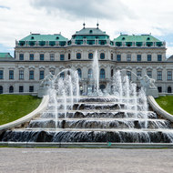 Fountain in front of upper Belvedere.