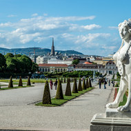 One of the guardians of upper Belvedere.