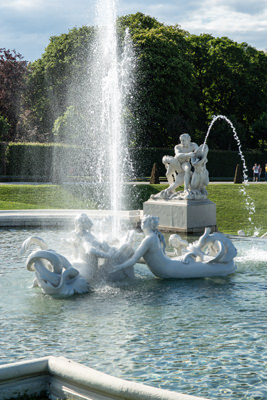 Thumbnail image of One of the fountains in the gardens of upper Belvedere.