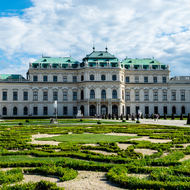 Upper Belvedere and gardens.