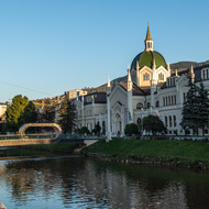 Sarajevo Academy of Fine Arts and bridge.