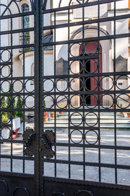 Thumbnail image of Gated entry to the Church of the Dormition.