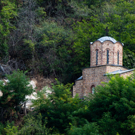 Abandoned Serbian Orthodox Church above Prizren.