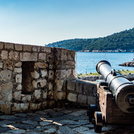 One of the fortifications outside Dubrovnik.