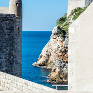 View from the walls of Dubrovnik.