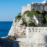 Dubrovnik fortification and Lovrijenac fortress.
