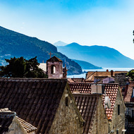 View from the wall, over the housetops of Dubrovnik.