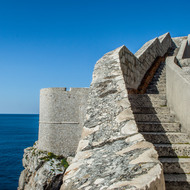 Steps along the wall around Dubrovnik.