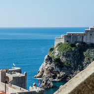 Lovrijenac fortress and Dubrovnik fortifications.