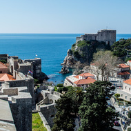 View of Dubrovnik and Lovrijenac fortress.
