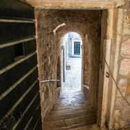 Entrances to the Soldiers' Mess Hall from inside Lovrijenac fortress.