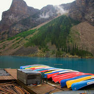 Waiting for summer at Moraine Lake.