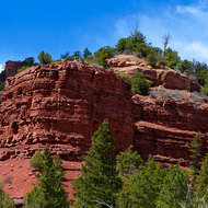 Red formations on the road to Telluride.