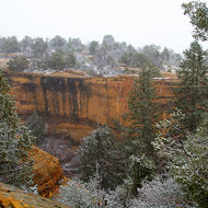 A light sprinkling of snow across Cliff Canyon.