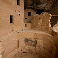 Spruce Tree House dwelling with kiva.