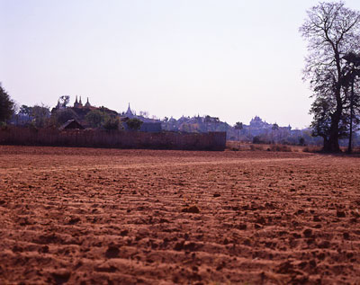 Thumbnail image of Fields around Bagan awaiting planting of peanuts.