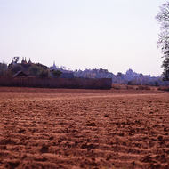 Fields around Bagan awaiting planting of peanuts.