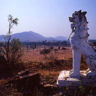 Guardian watching out over the plains of Bagan.