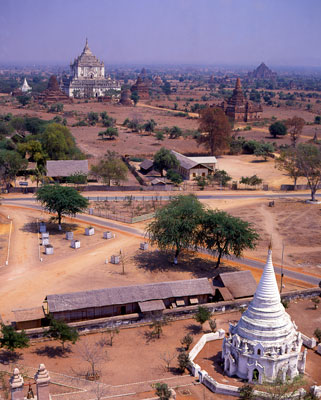 Thumbnail image ofView over the ancient walled city of Bagan.
