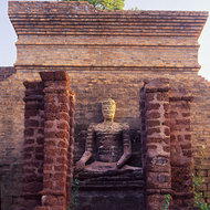 Ancient temple at Sukhothai.