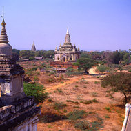 Bagan, the ancient capital of Burma in the Myanmar dynasty of the 11th to 13th centuries.