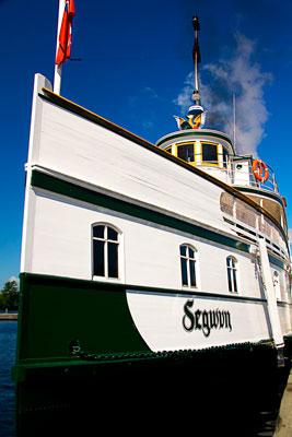 Thumbnail image ofRMS Segwun at dock on the Muskoka Lakes.