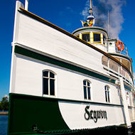 RMS Segwun at dock on the Muskoka Lakes.