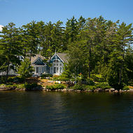 Island cottage on the Muskoka Lakes.