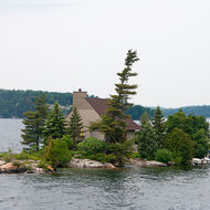 Island cottage on the St. Lawrence River.