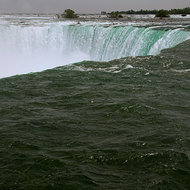 Horseshoe Falls, part of the collective Niagara Falls.