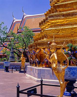 Thumbnail image ofGold stupa at the Grand Palace.