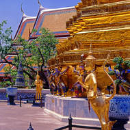 Gold stupa at the Grand Palace.