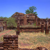 Remnants of an old stupa.