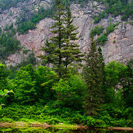 Agawa Canyon escarpment.