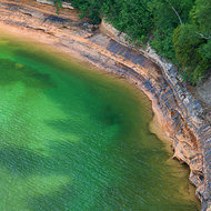 Pictured Rocks shoreline on Lake Superior.