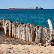 Shipping on Lake Superior.