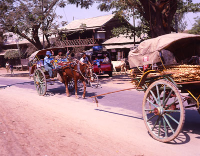 Thumbnail image of Traffic congestion in the village.