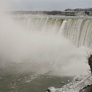 Horseshoe falls in mid-winter.