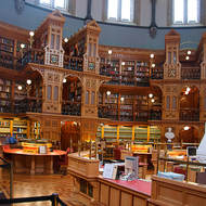 The Library of Parliament in Parliament Hill.