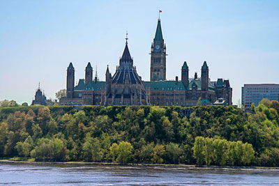 Thumbnail image of Parliament Hill showing the Library of Parliament...