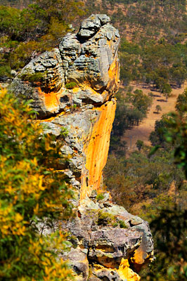 Thumbnail image ofSandstone bluff of Castle Mountain, overlooking...