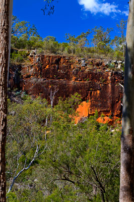 Thumbnail image ofSteep colored sandstone eastern side of Cania...