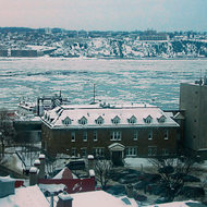 Icy St. Lawrence River.