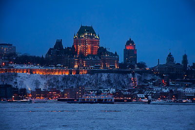 Thumbnail image ofChateau Frontenac from the St. Lawrence River.