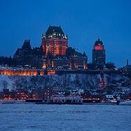 Chateau Frontenac from the St. Lawrence River.