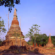 Deteriorating old chedi.